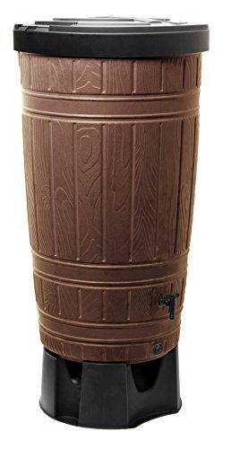 Regenwassertonne Wassertank Regentonne Regentank Woodcan 265L mit Wasserhahn sowie Standfuß -